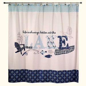 "Avanti Lake Life Shower Curtain ""Retired"" NWT"